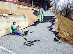 Realizace zpevněných ploch a zahrady Brno - Komín