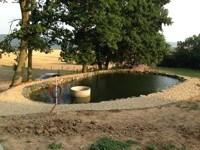 Realizace velkého zahradního jezírka ve Veverské Bítýšce